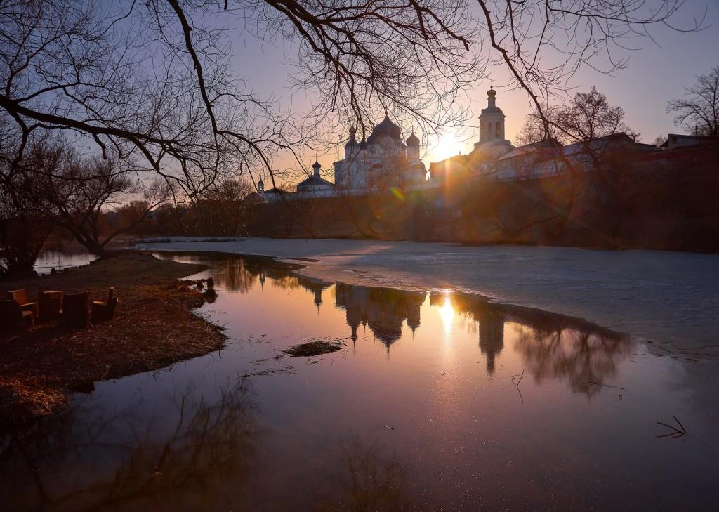 Апрельский закат в Боголюбово 03