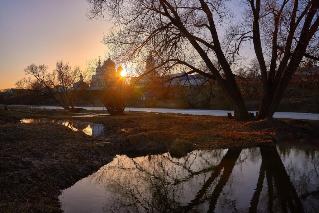 Апрельский закат в Боголюбово 04