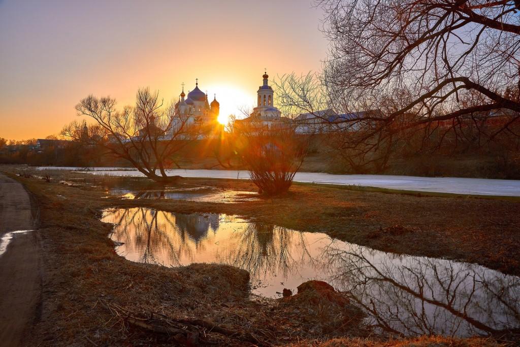 Апрельский закат в Боголюбово 06