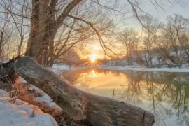 Апрельское утро на реке Серой, г. Александров