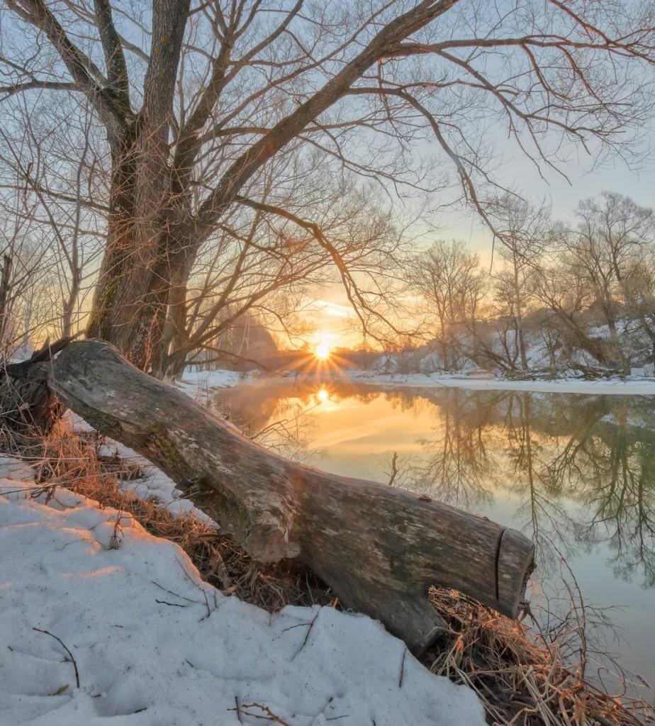 Апрельское утро на реке Серой 01