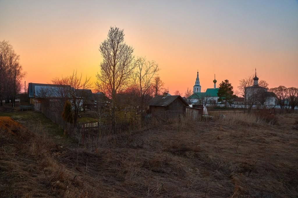 Закат в Кидекше (апрель, Суздальский район, храмовый комплекс Бориса и Глеба ) 07