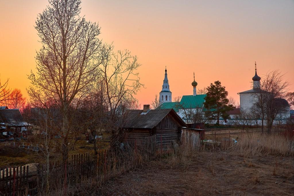 Закат в Кидекше (апрель, Суздальский район, храмовый комплекс Бориса и Глеба ) 09