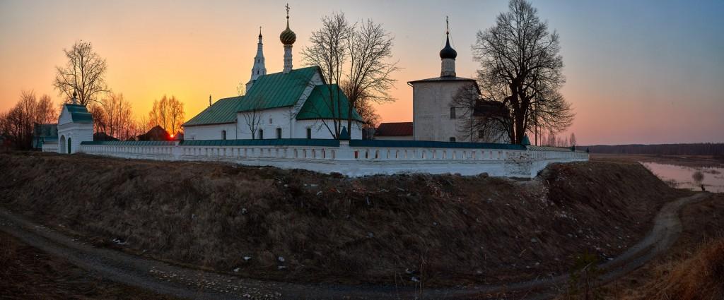 Закат в Кидекше (апрель, Суздальский район, храмовый комплекс Бориса и Глеба ) 10