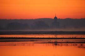 Апрельский закат в Боголюбово