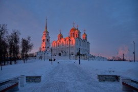 Удивительный мартовский закат во Владимире