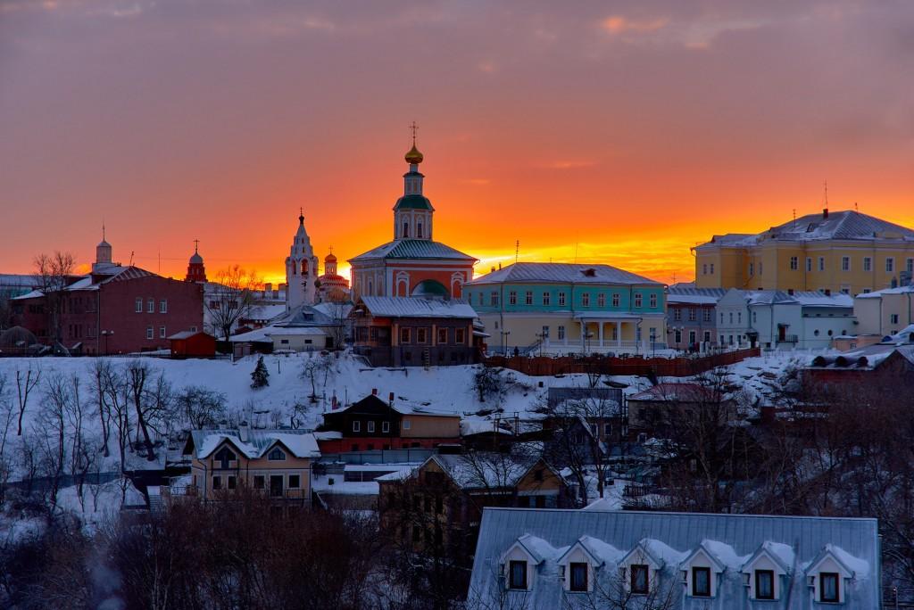 Удивительный мартовский закат во Владимире 02