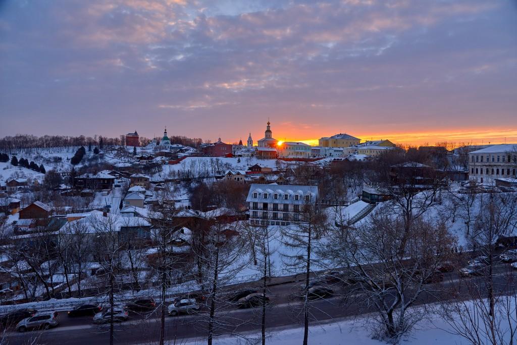 Удивительный мартовский закат во Владимире 03