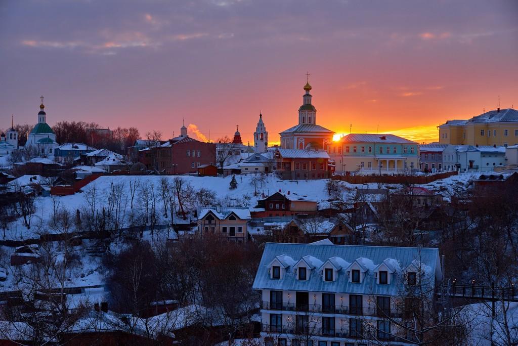 Удивительный мартовский закат во Владимире 04