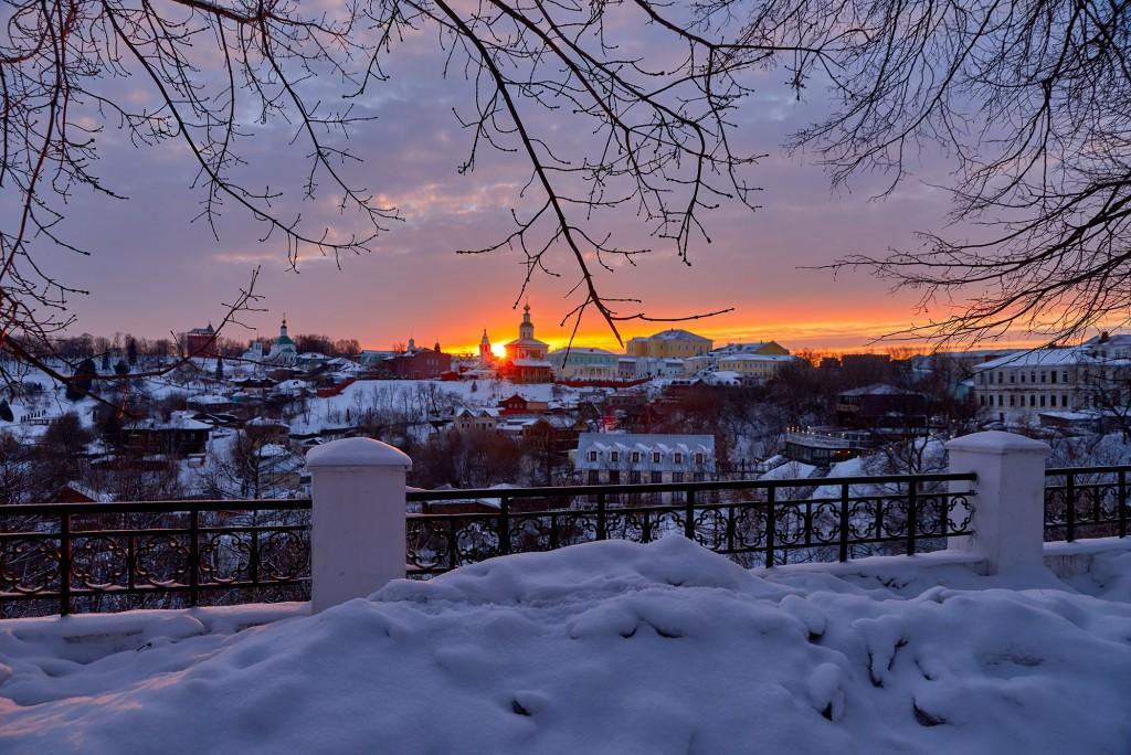 Удивительный мартовский закат во Владимире 05