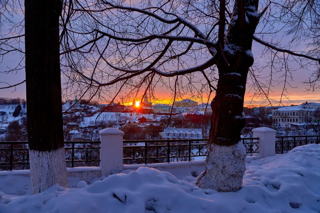 Удивительный мартовский закат во Владимире 07