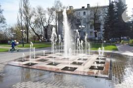 Весна. Владимир. Фонтан на площади Фрунзе
