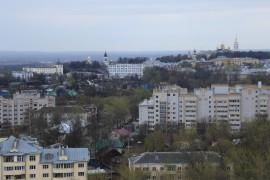Вид на центр Владимира с колеса обозрения