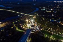 Ночной Владимир с высоты