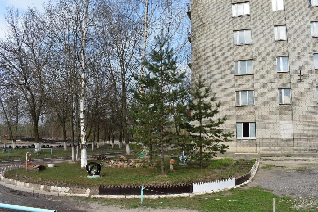 ЖКХ-арт у студенческого общежития на проспекте Строителей (поворот на улицу Мира) 06