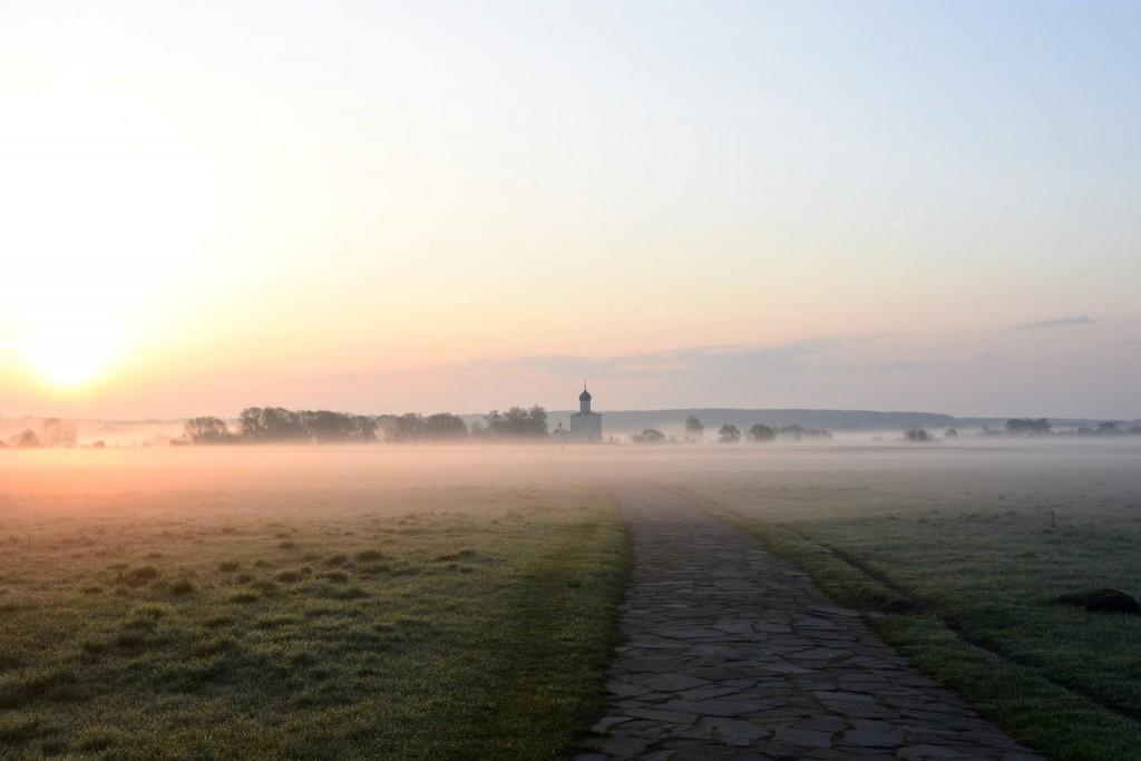 Храм Покрова на Нерли майским утром 05