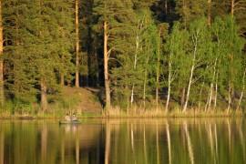 Чёрное озеро майским вечером, г. Покров