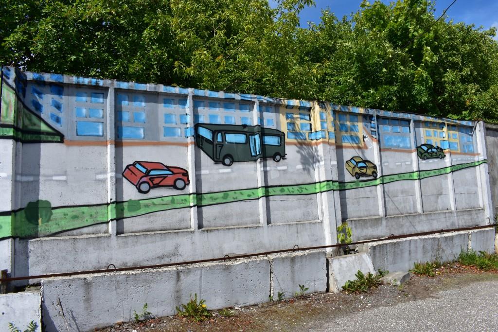Граффити в парке Добросельский, г. Владимир 07