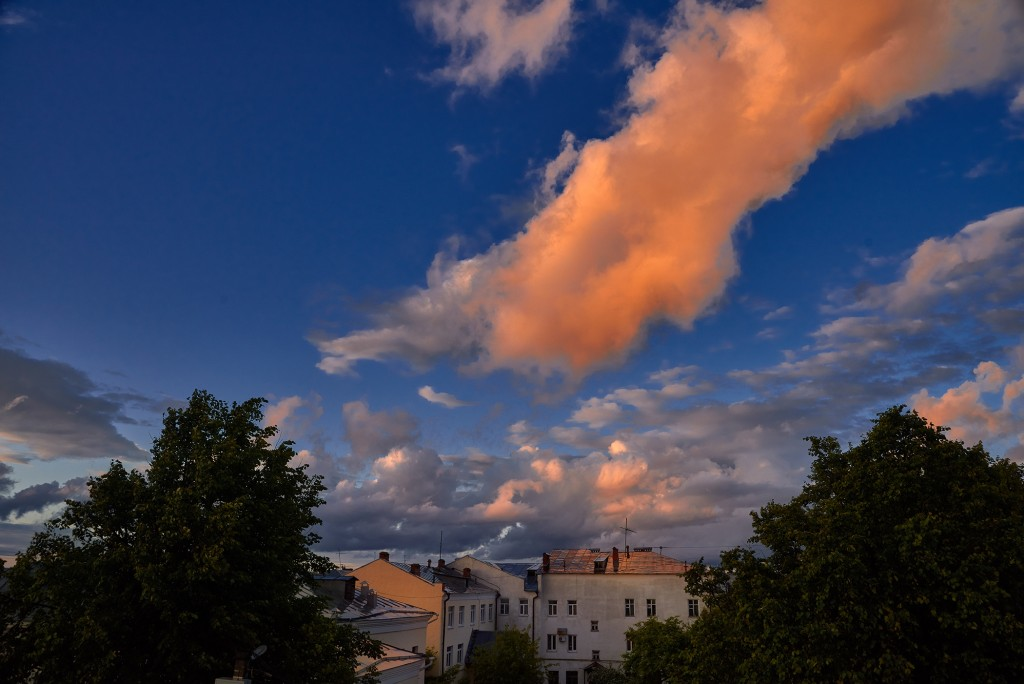 Невероятное небо над Владимиром ( на закате, июнь 2018 ) 02