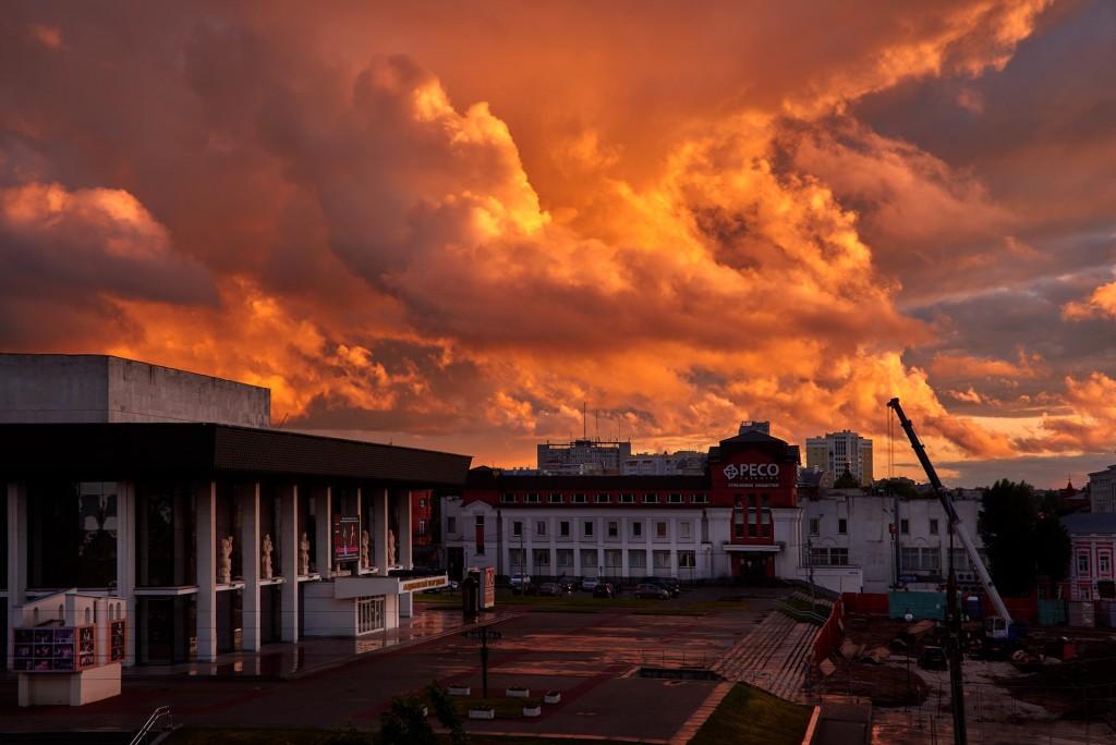 Невероятное небо над Владимиром ( на закате, июнь 2018 ) 06