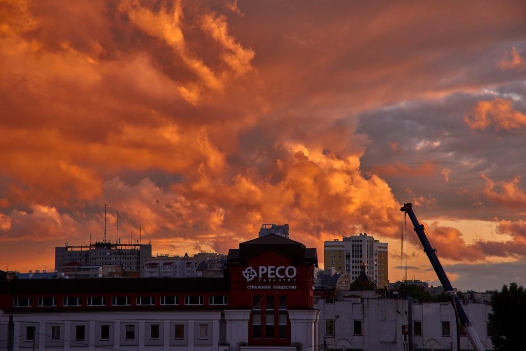 Невероятное небо над Владимиром ( на закате, июнь 2018 ) 09