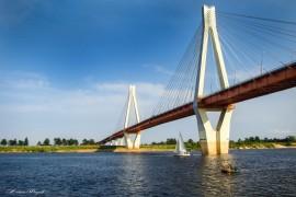 Вантовый мост через реку Оку. г. Муром