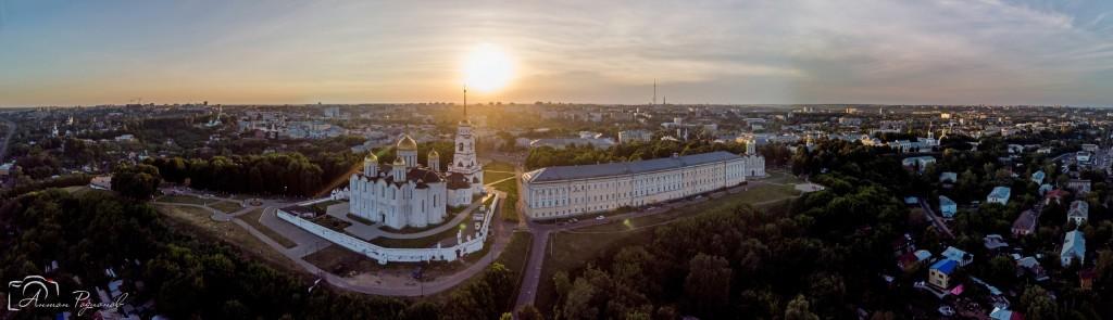 Панорама главных достопримечательностей Владимира с высоты