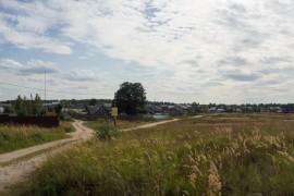 Вид на деревню Киржач (ст. Усад) с севера.
