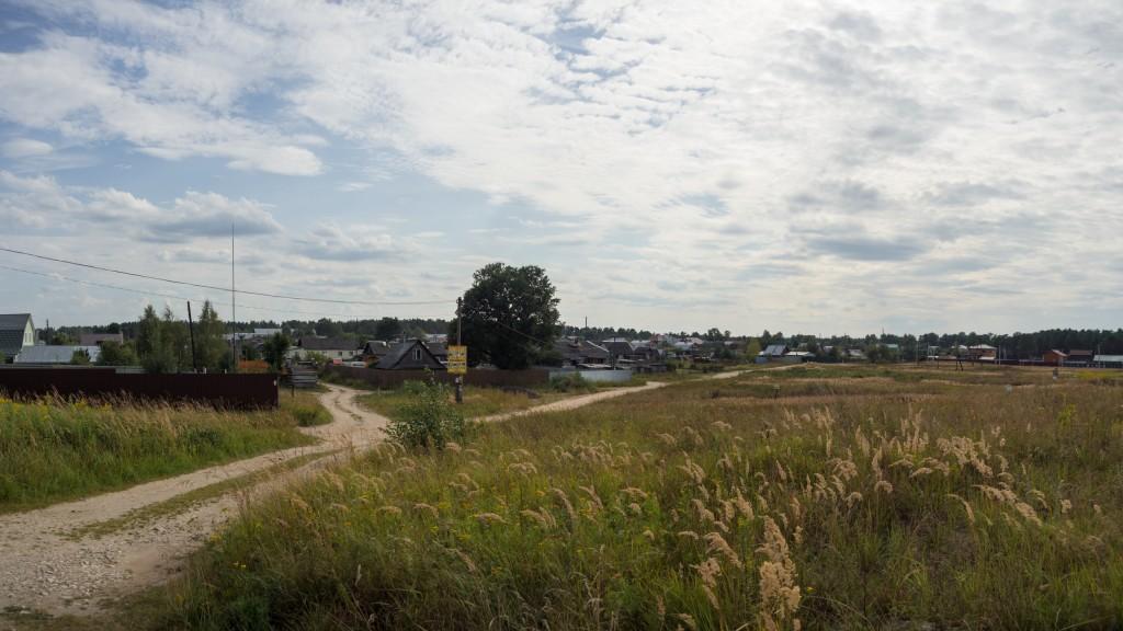 Вид на деревню Киржач (ст. Усад) с севера