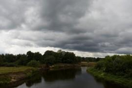 Клязьма у Марково, речка Верхулька, протекающая через село (г. Покров)