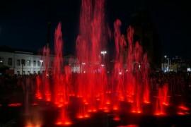 Открытие фонтана и салют на дне города Владимир