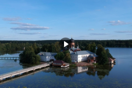 Свято-Введенский Островной монастырь, видео с высоты