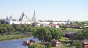 Город Александров, вид на Успенский женский монастырь. Владимирская губерния, 1911 г. (фото С.М. Прокудина-Горского)