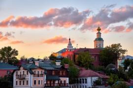 г.Владимир, август 2018г., вид на исторический центр города со стороны Патриарших садов