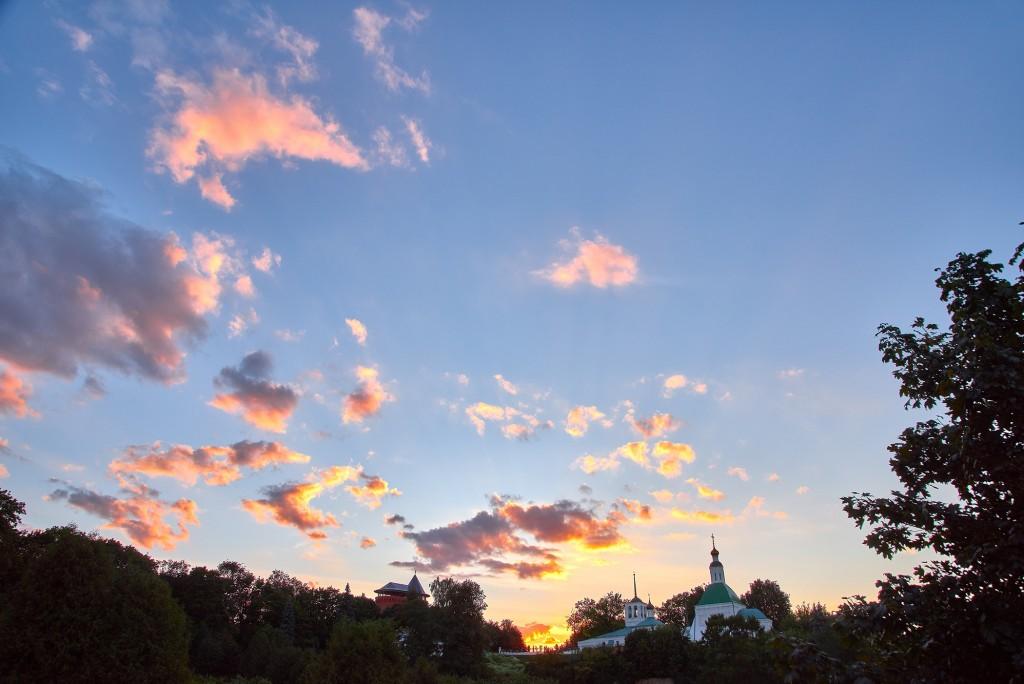 г.Владимир, август 2018г., вид на исторический центр города со стороны Патриарших садов 03