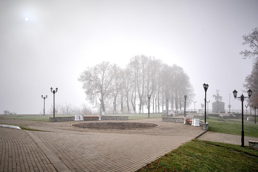 Начало ноября неожиданно порадовало...туманом 09