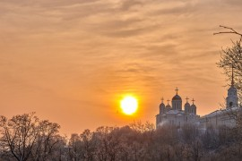 Еще один яркий, январский закат (Владимир, 2019)