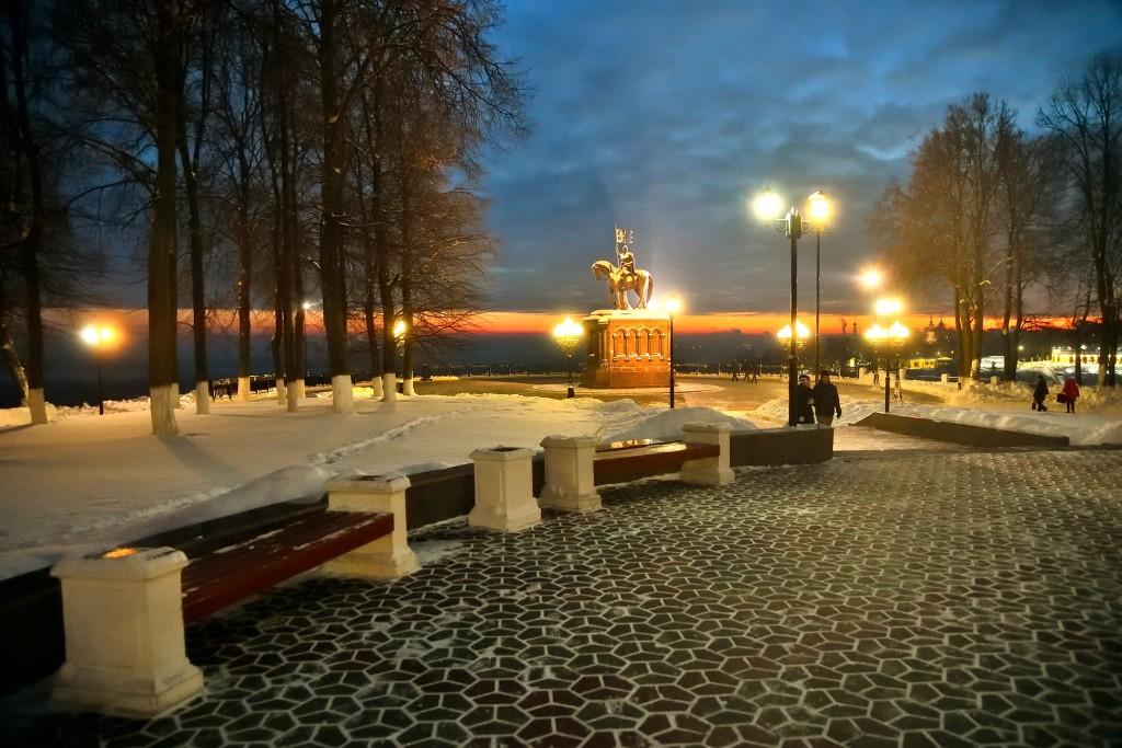 Январские морозные вечера во Владимире 04