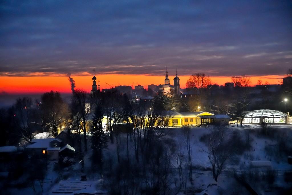 Январские морозные вечера во Владимире 06