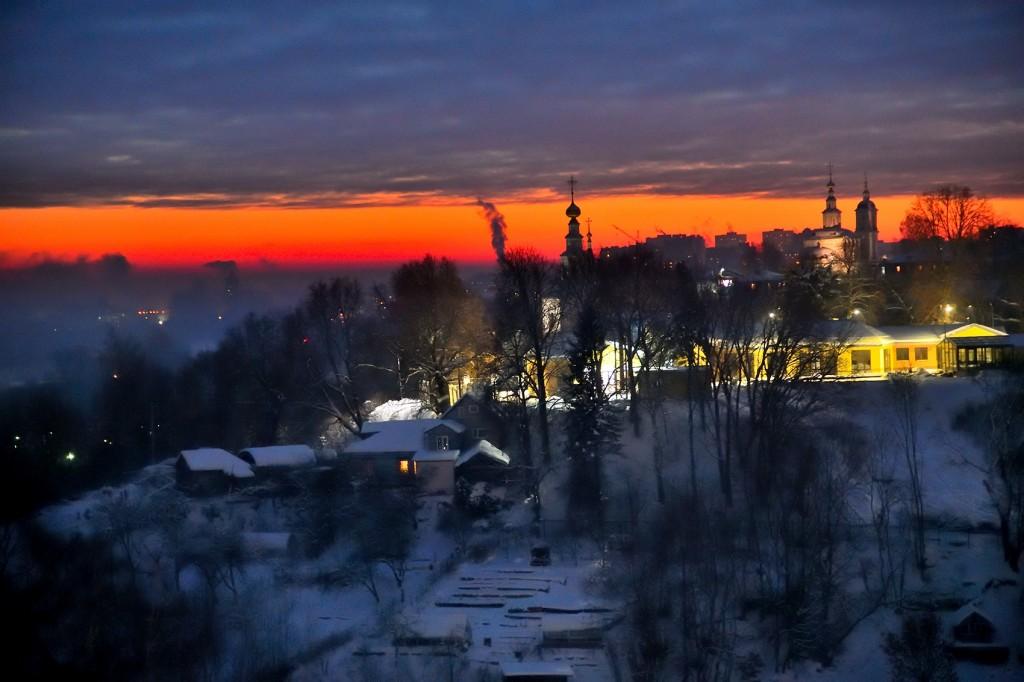 Январские морозные вечера во Владимире 07