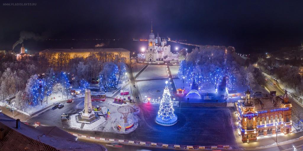Яркий и праздничный Владимир 2018-2019