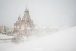 Пурга во Владимире