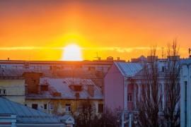 Апрельский закат во Владимире.