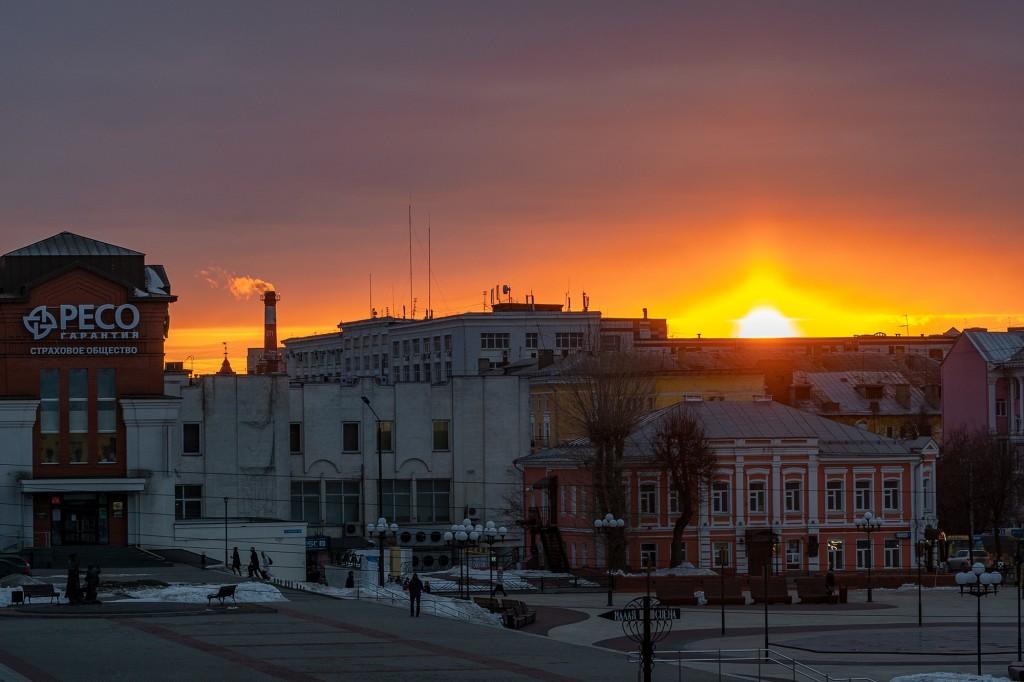 Апрельский закат во Владимире 05