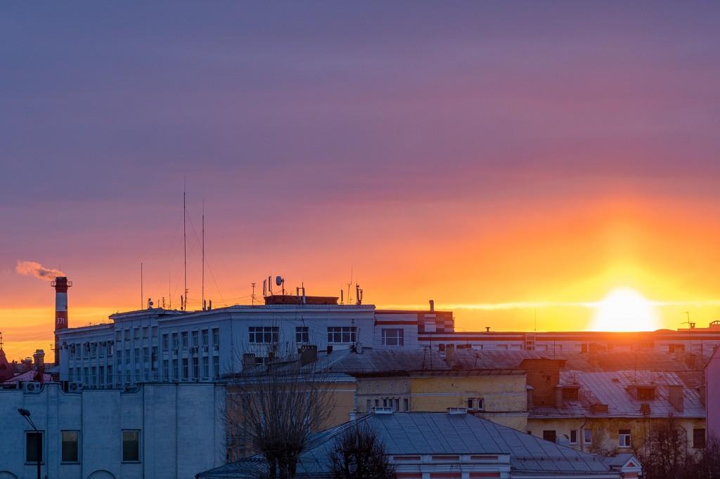 Апрельский закат во Владимире 06