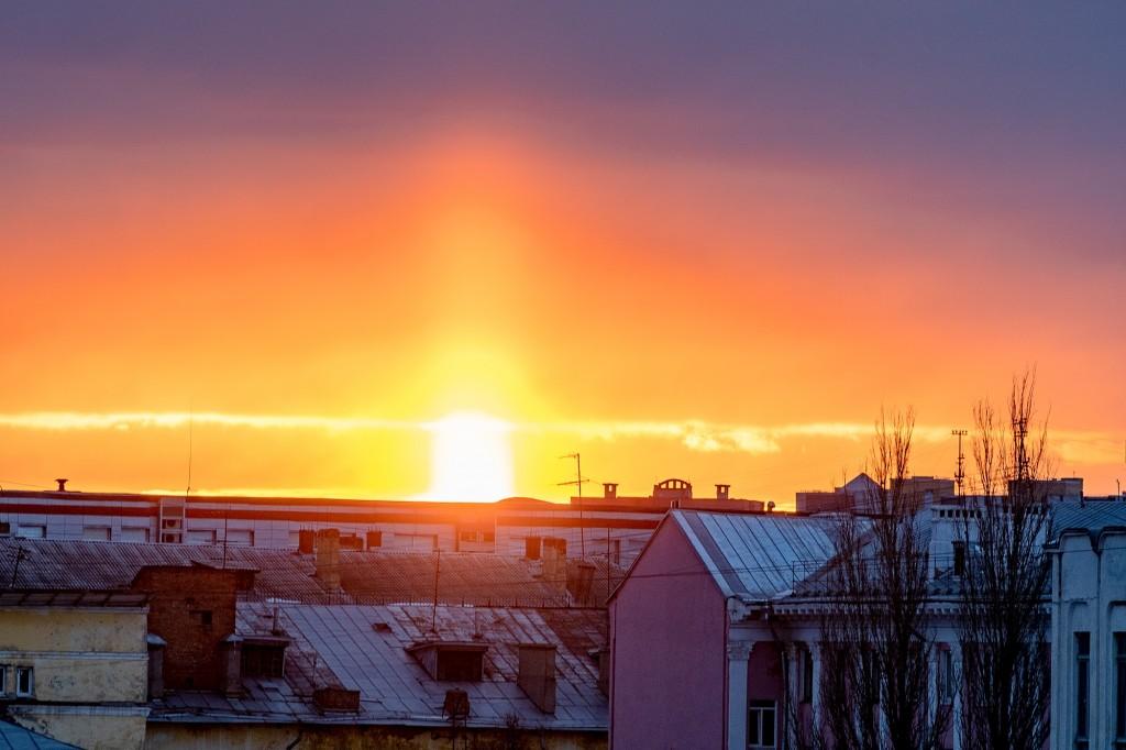 Апрельский закат во Владимире 08
