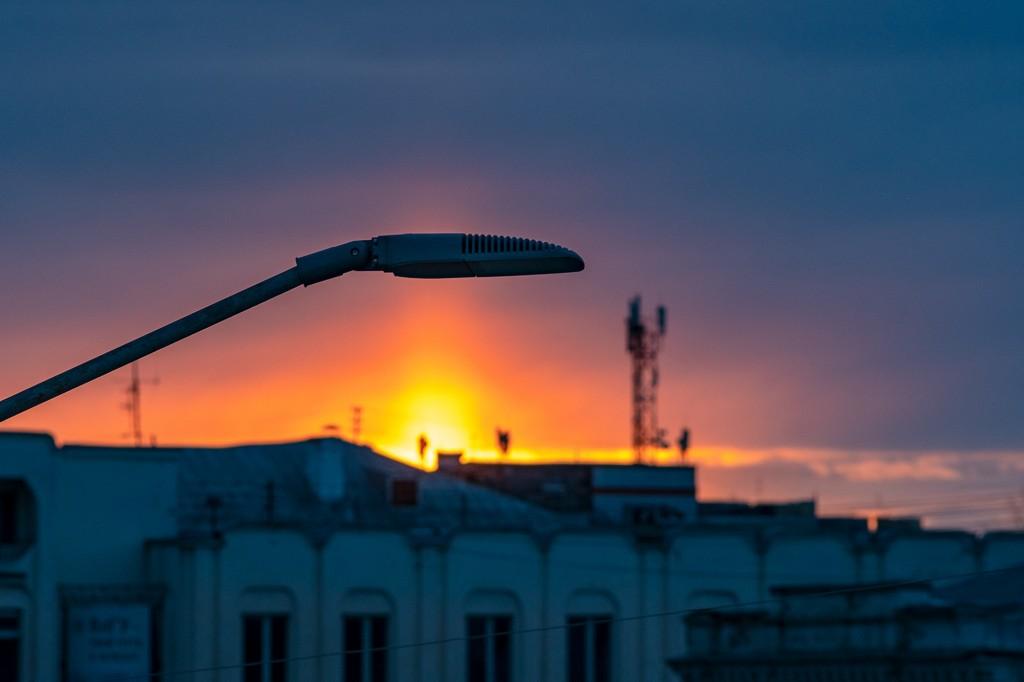 Апрельский закат во Владимире 09