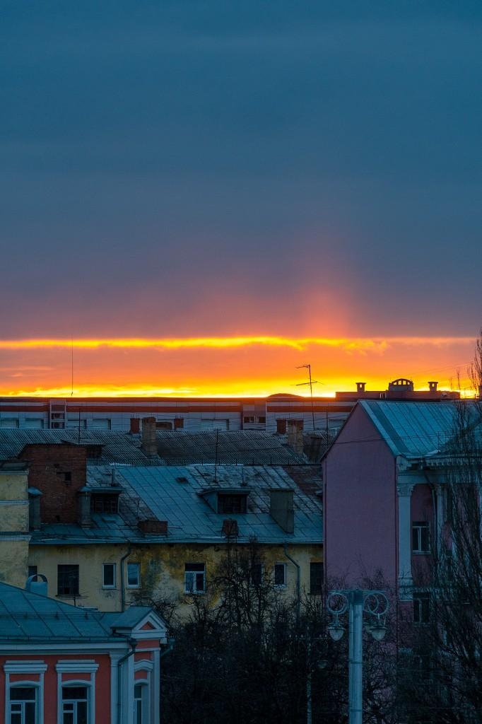 Апрельский закат во Владимире 10