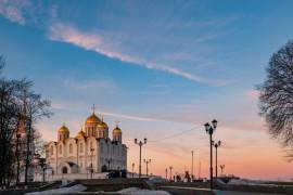 Апрельский закат во Владимире 2019
