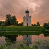 Чудесный, восхитительный рассвет на Покрова-на-Нерли